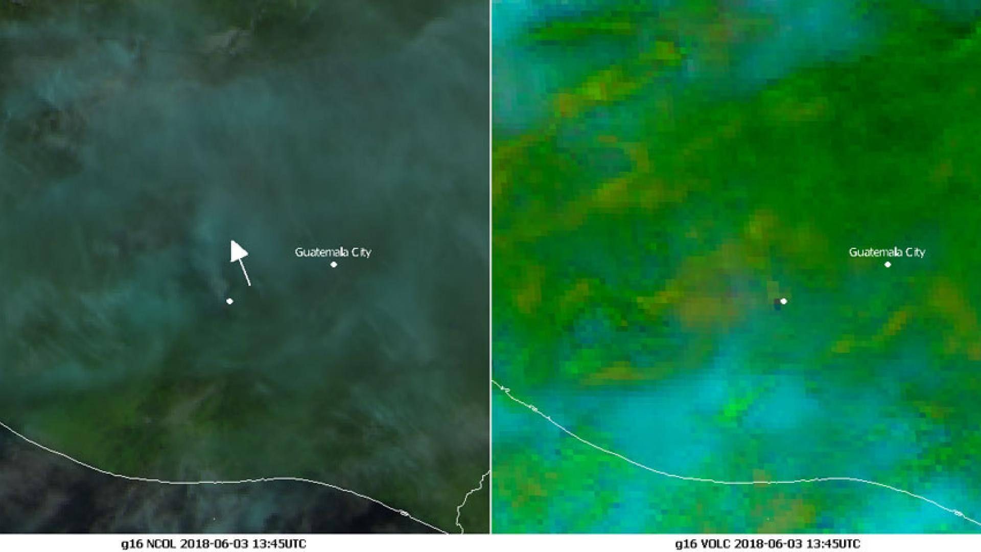 Devastating eruptions of volcano Fuego near Guatemala City