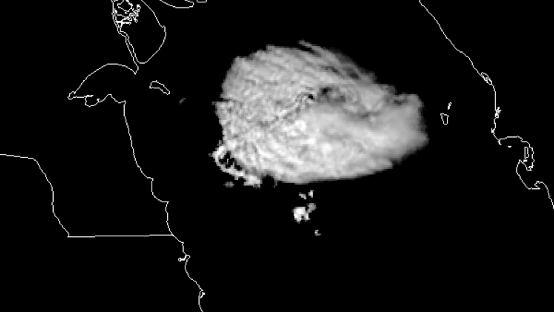 Isolated convective complex over the upper Arabian Gulf