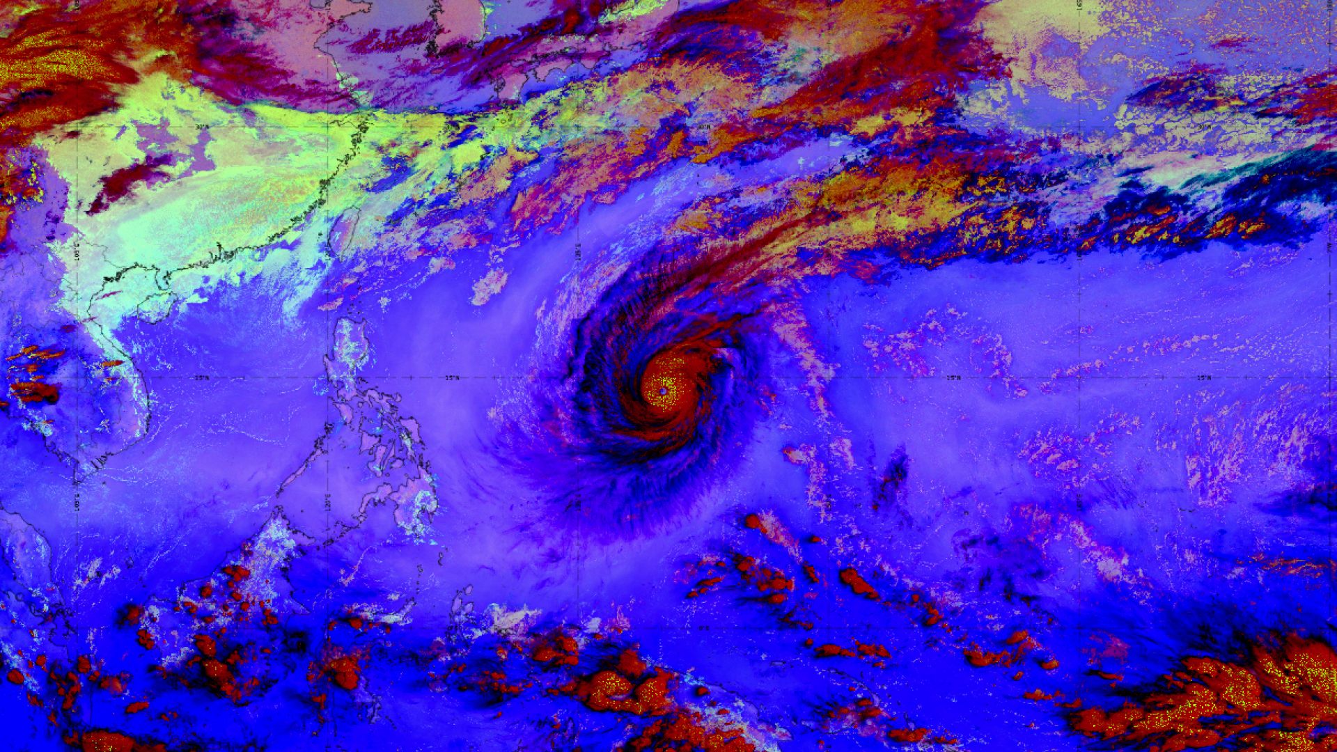Record-breaking Typhoon Wutip