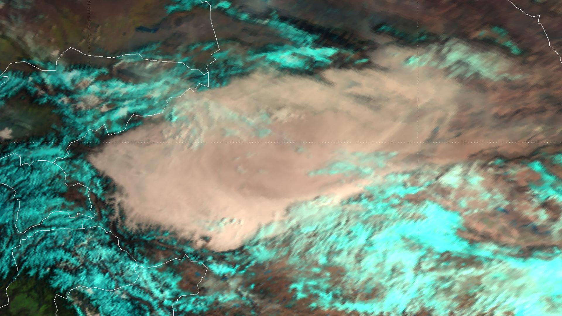 Major dust outbreak over the Taklimakan Desert