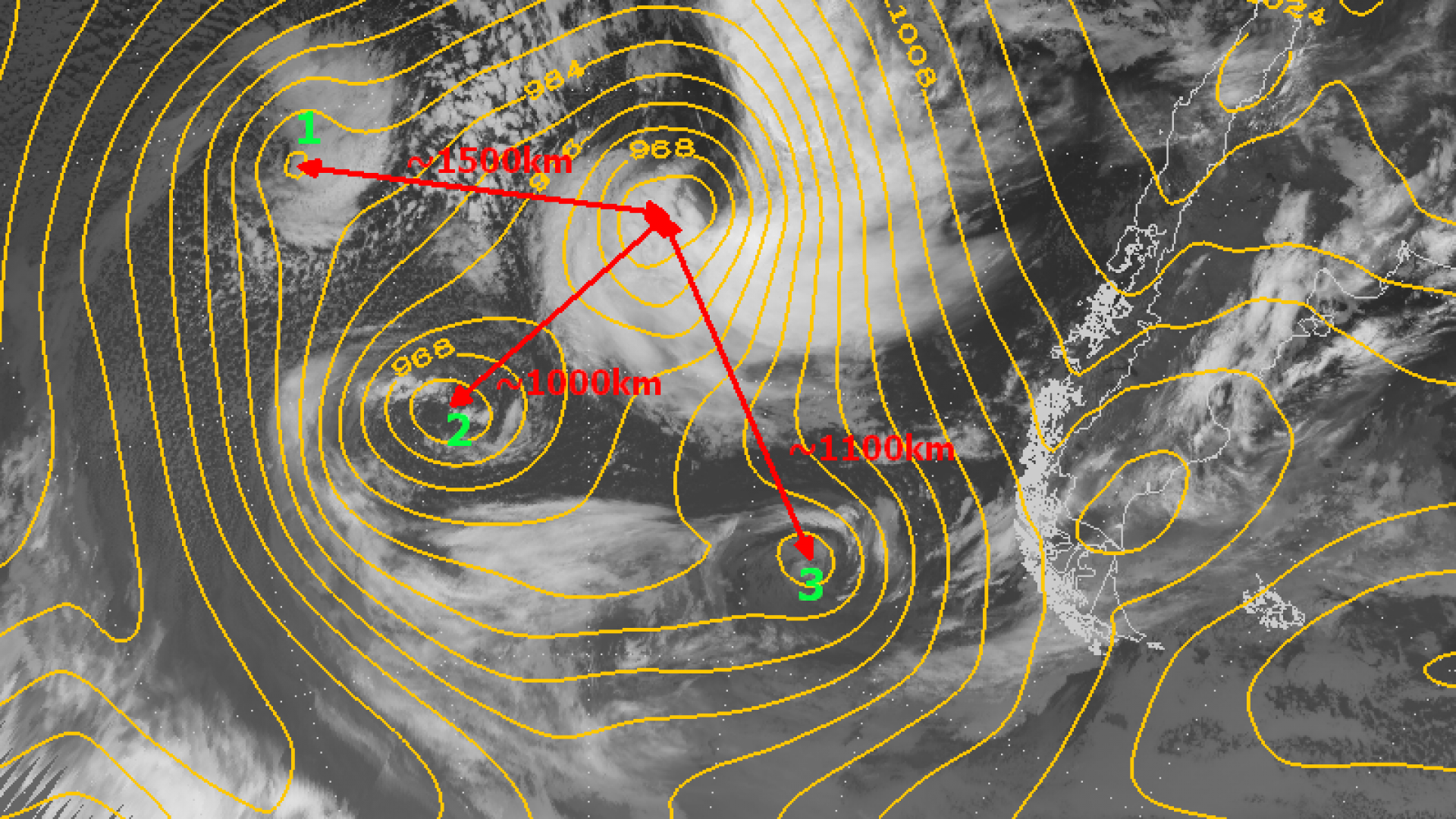 The Fujiwhara effect on extratropical cyclones