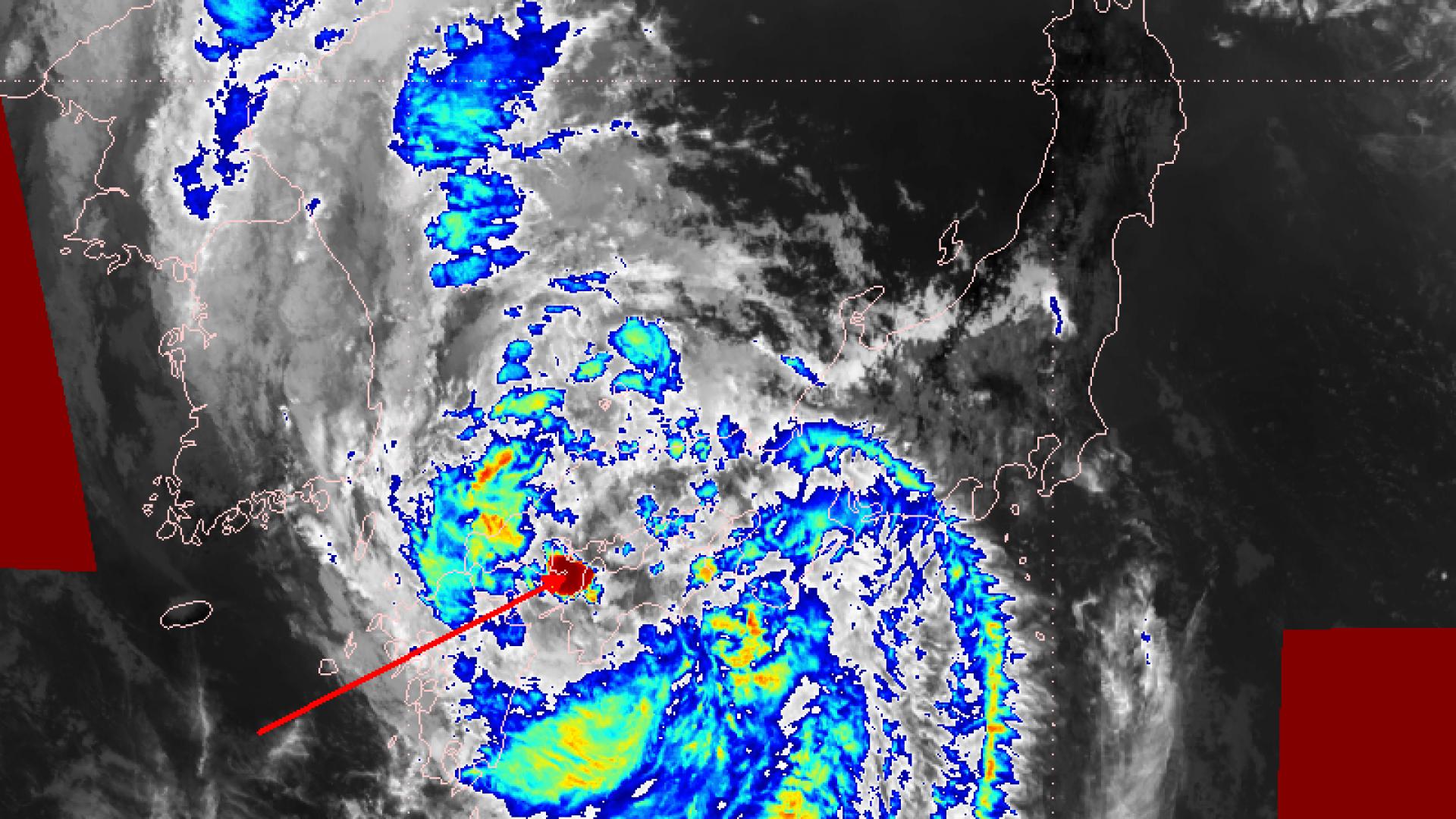 Typhoon Krosa over Japan