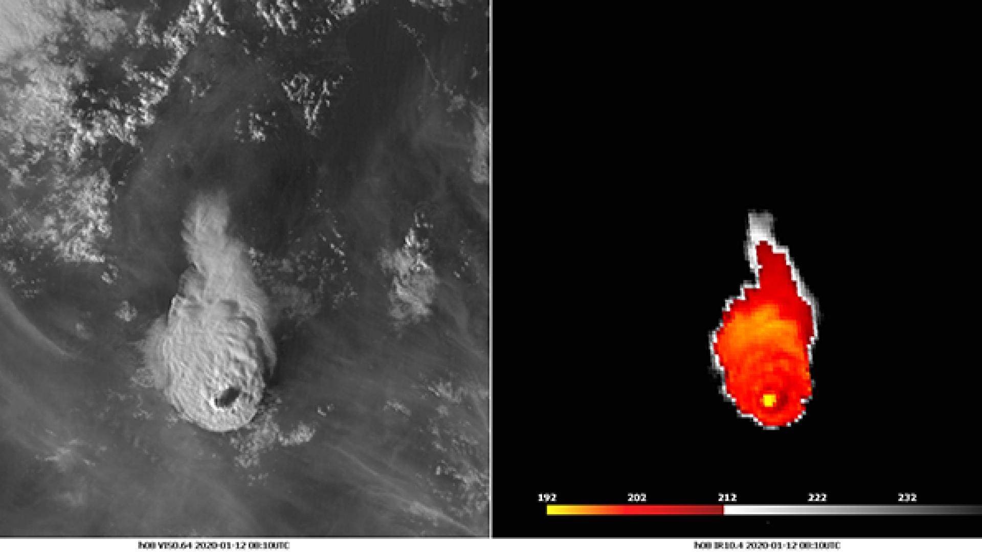 Short massive eruption of volcano Taal