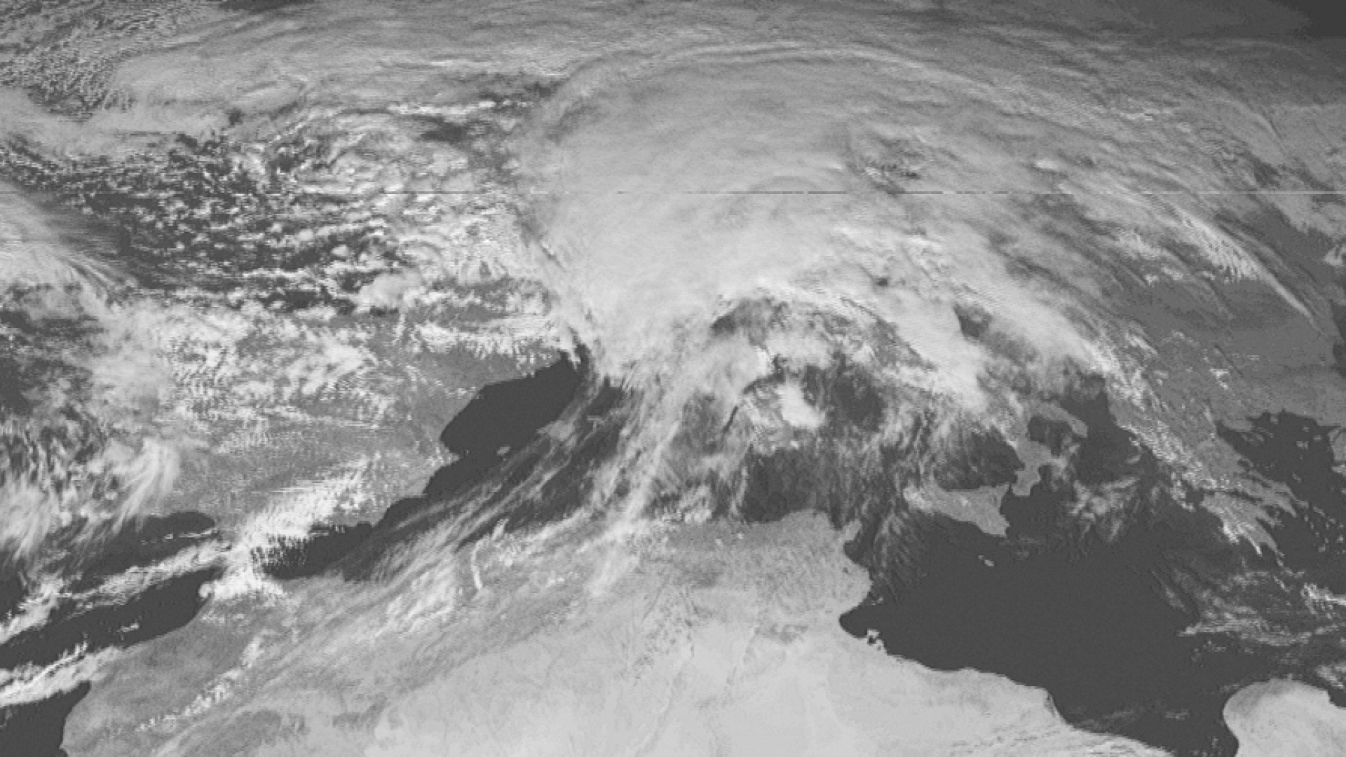 Severe snowstorm in Germany seen by Meteosat-1