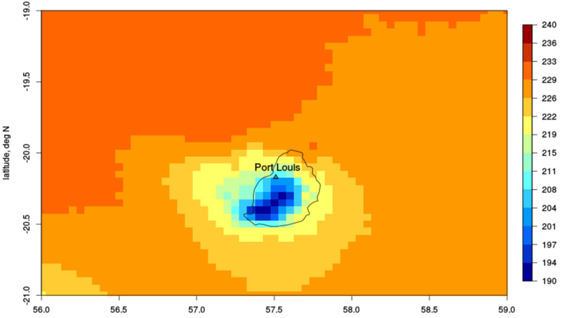 Analysis of CM SAF data over Mauritius