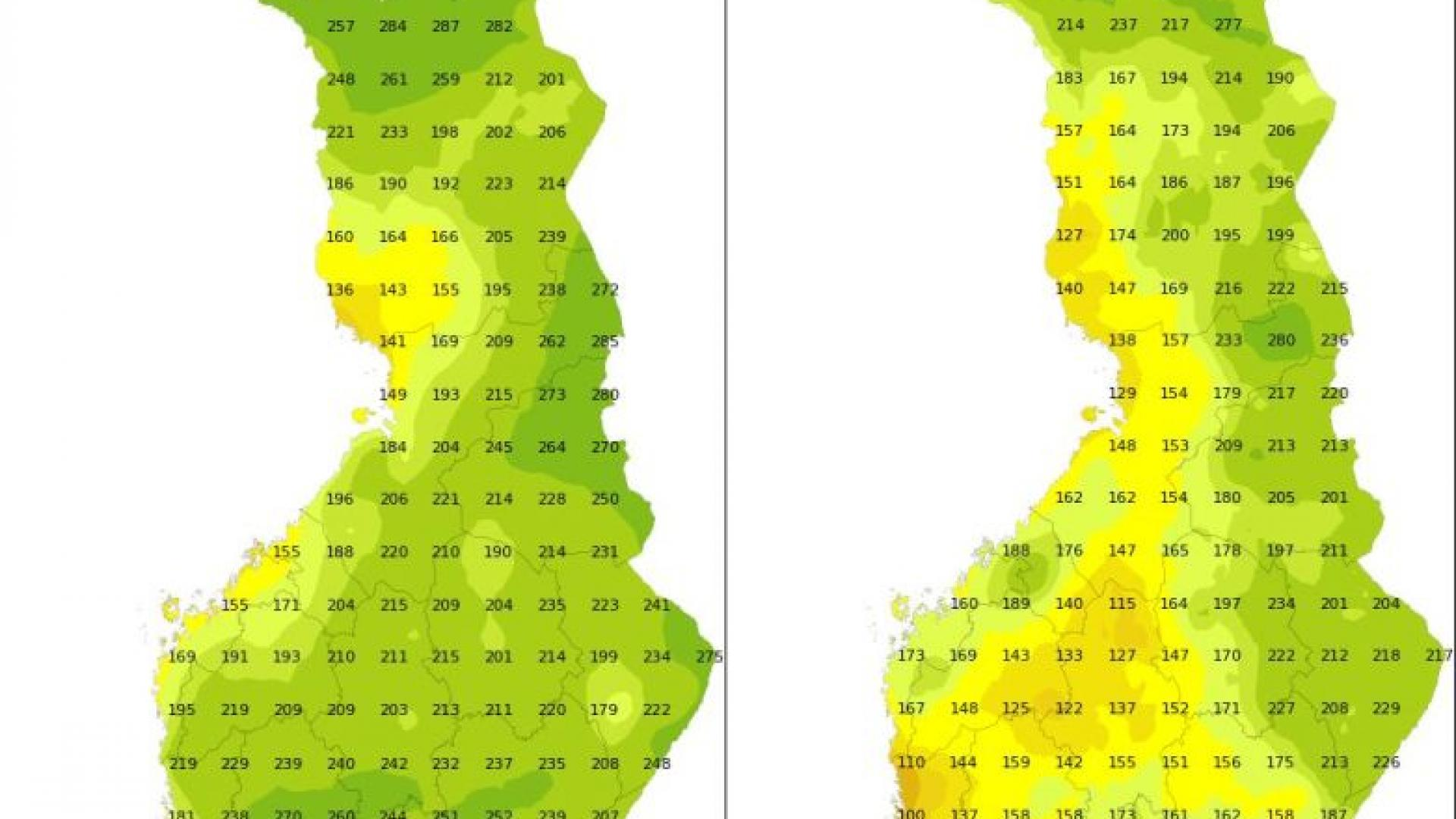 Using RGBs to look at the seasonal differences