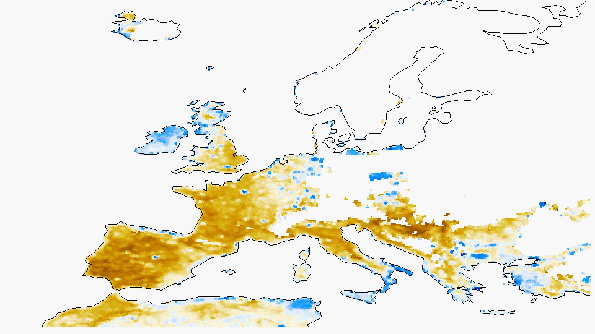 Soil moisture anomaly for February 2012