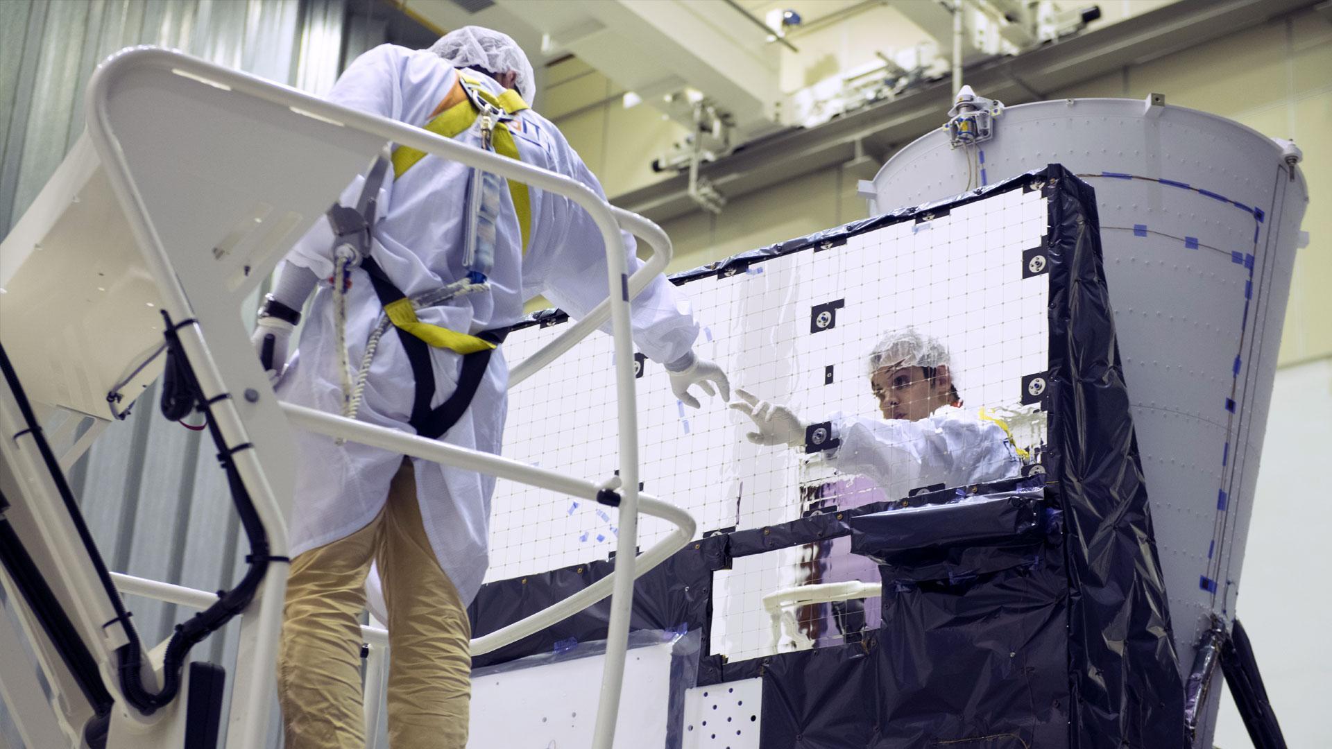 MTG Satellite in the Cleanroom