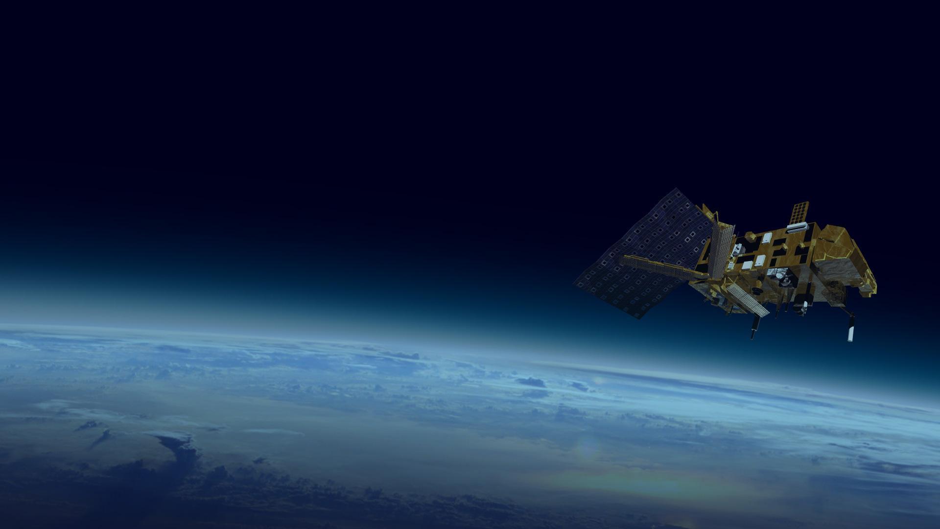Metop satellite in orbit