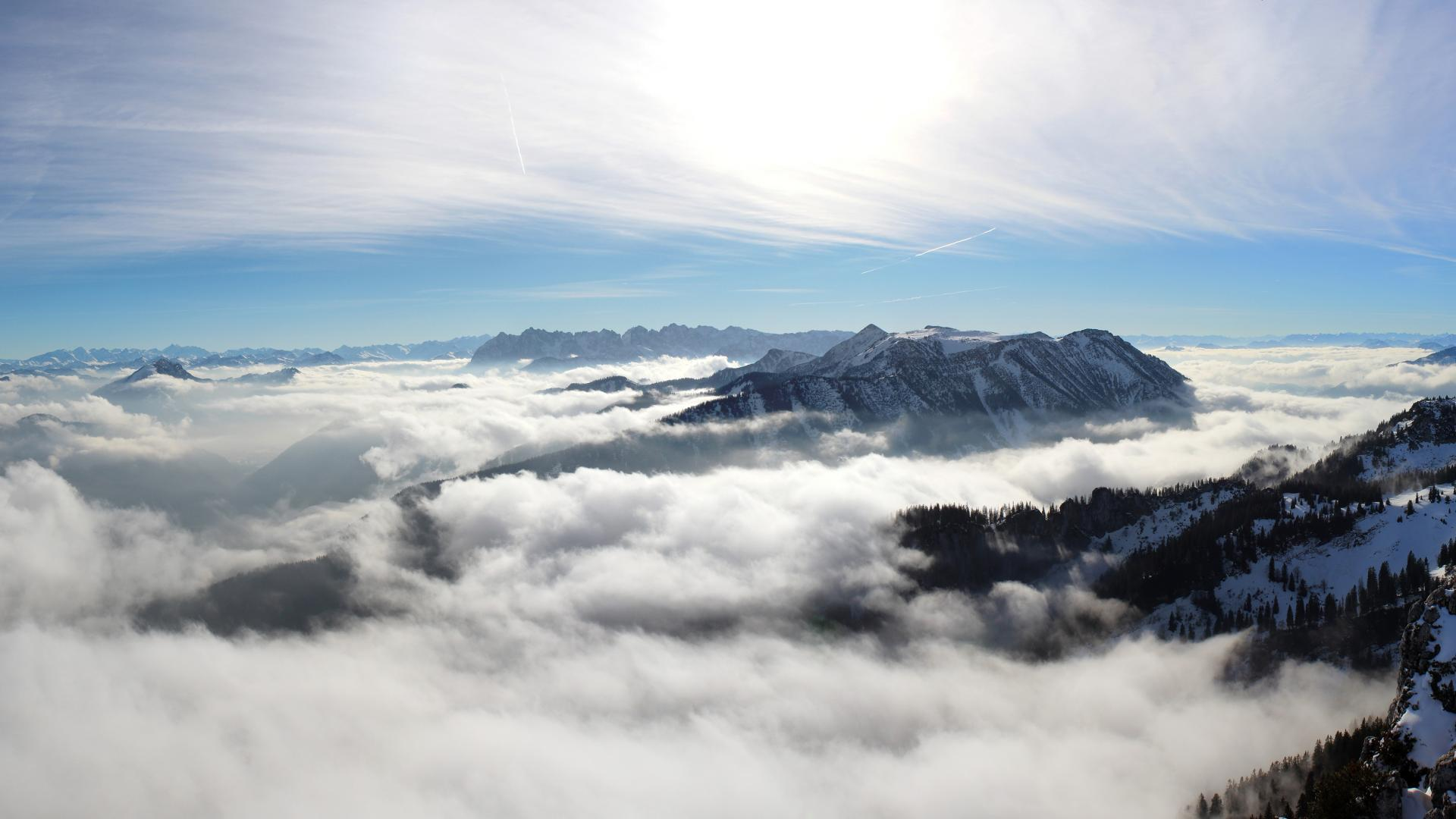 View from above the clouds