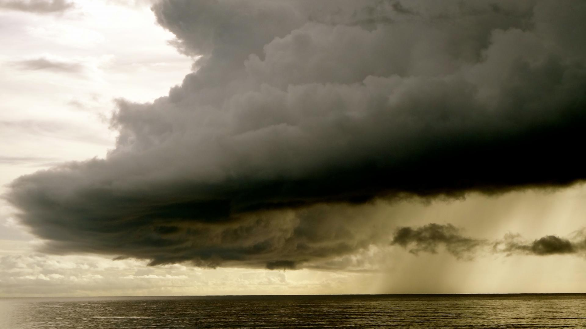 A storm cloud at sea