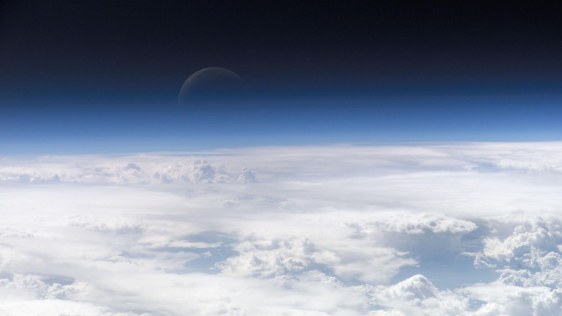 Top of the atmosphere view from ISS