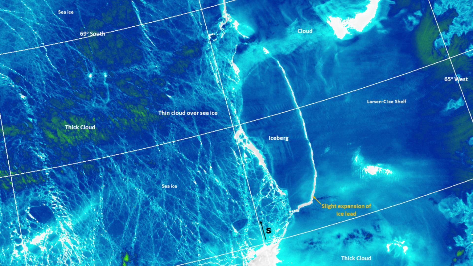 Huge iceberg breaks off Larsen ice shelf in Antarctica