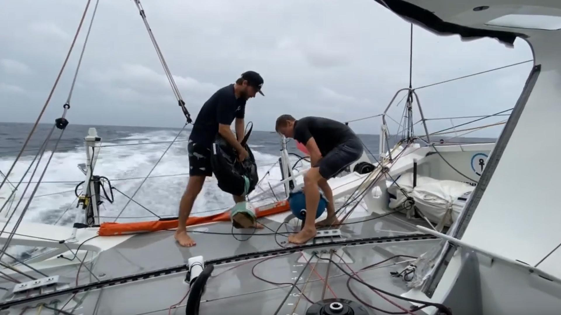 Sailors drop off ocean-monitoring buoys during trans-Atlantic race