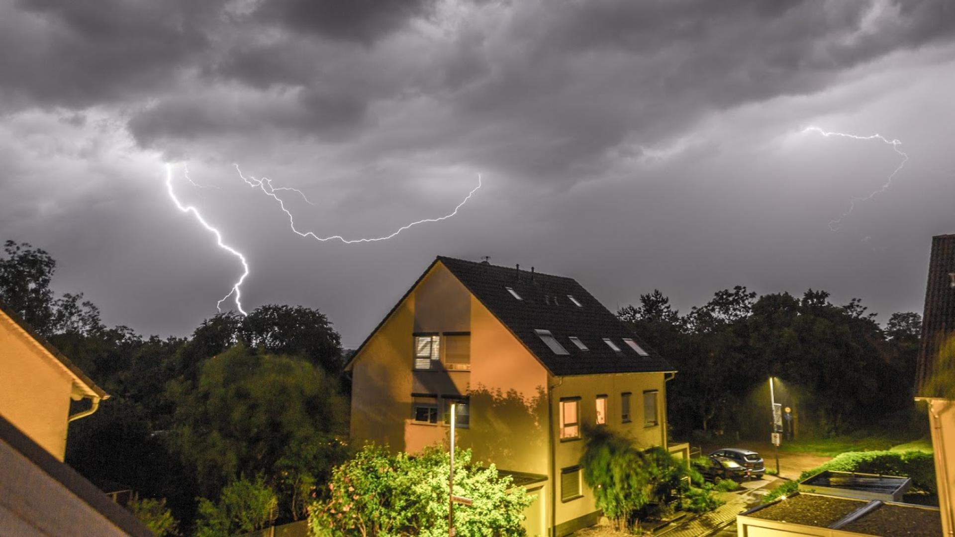 Lightning over Griesheim June 2021