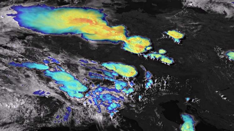 Severe storms captured by super rapid scan