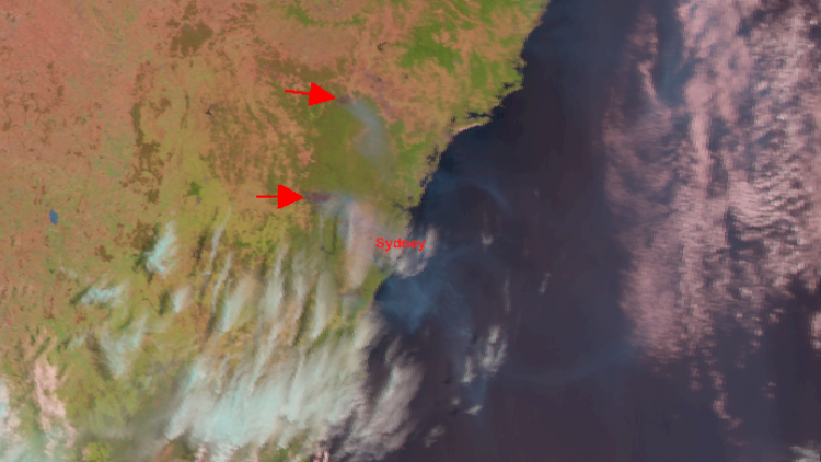 Wild fires in New South Wales