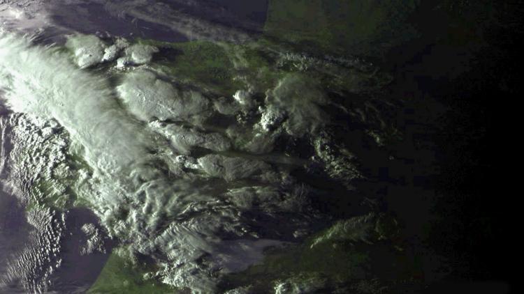 Severe thunderstorms over Spain