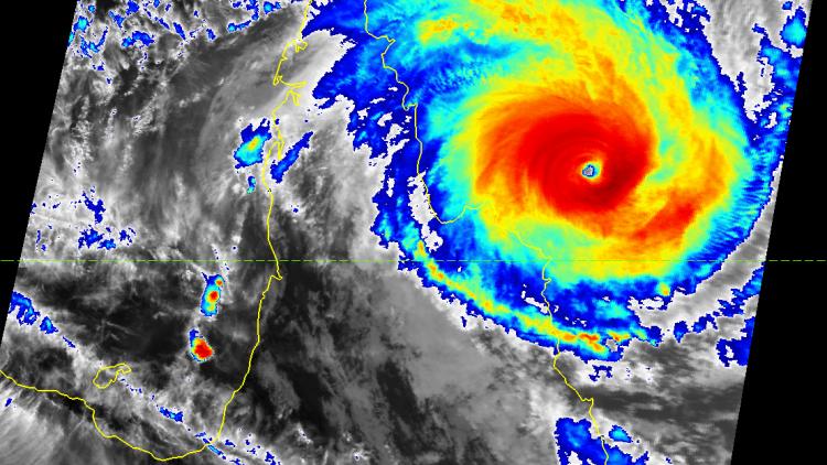 Tropical Cyclone Ita off the coast of Australia