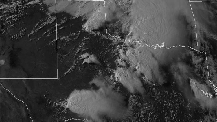 Supercell seen by GOES-14 Super Rapid Scan