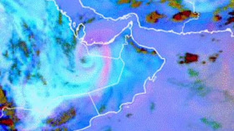 Dust associated with thermal low over Oman