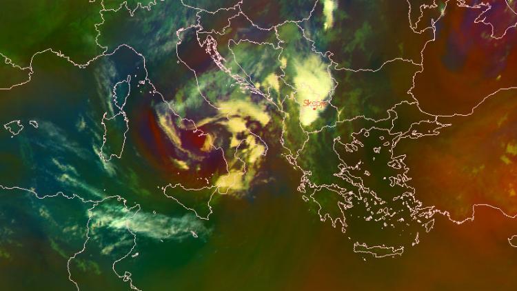 Torrential rain over Skopje