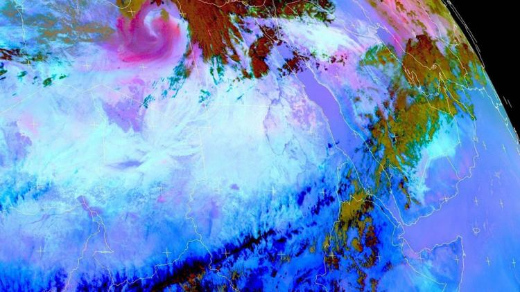Multiple dust events over the Middle East