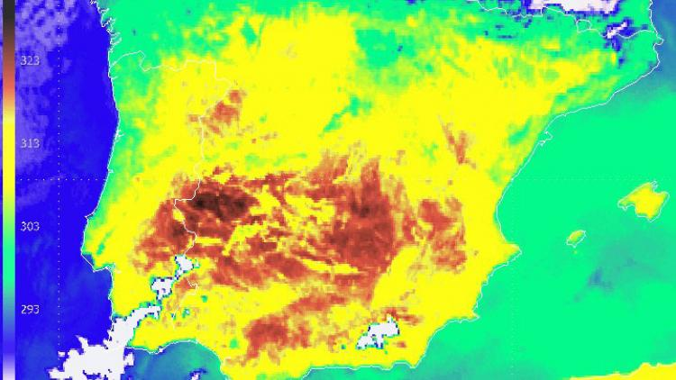 Very hot summer's day in the Iberian peninsula