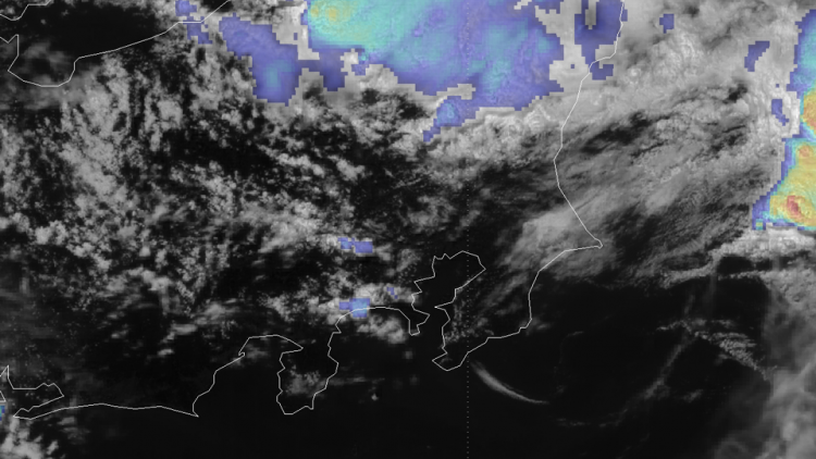 Severe storm over Japan