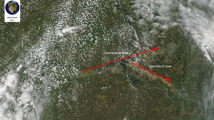 GOES-16 'sees' supercell over South Dakota