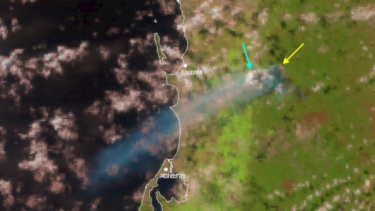 Possible cumulus flammagenitus on the coast of Western Australia