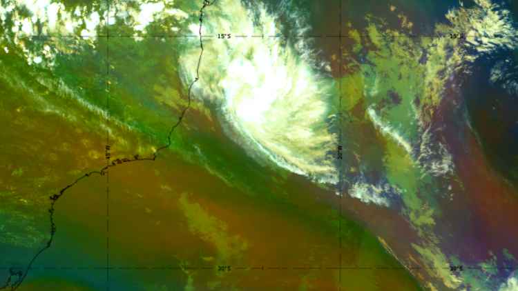 Rare Tropical Storm in the South Atlantic basin