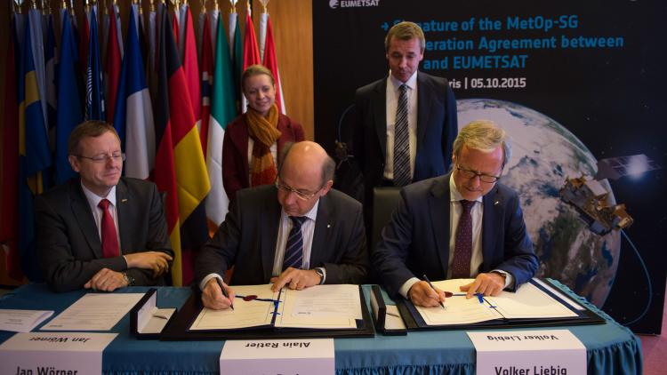 IMG - Signature of Cooperation agreement with ESA on Metop-SG