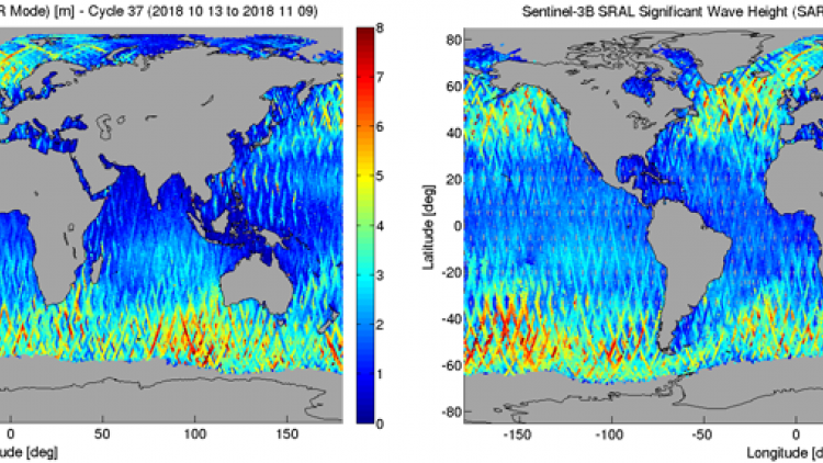 Release of Sentinel-3B STM Level-1 and Marine Level 2 Products