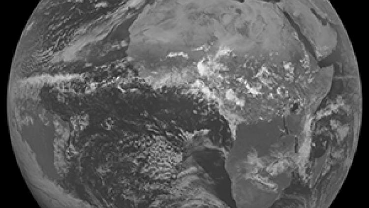 Meteosat 7 full disc using VIS Channel