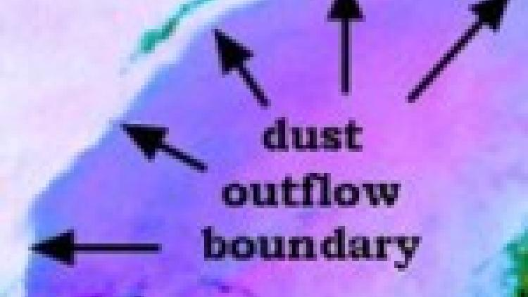 Dust outflow boundary over Sudan
