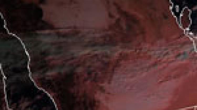 Low cloud over Saudi Arabian desert