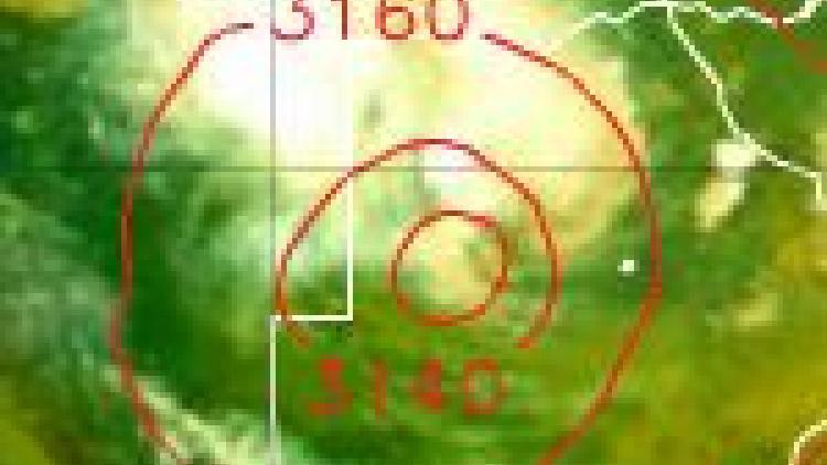 Tropical low over Botswana