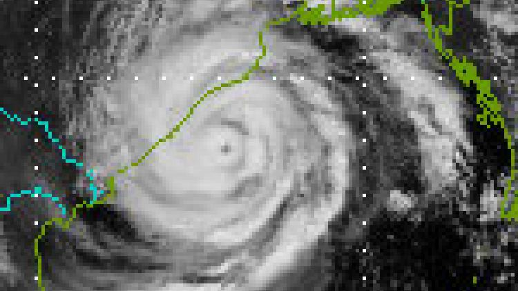 Tropical Cyclone Phailin heading towards India