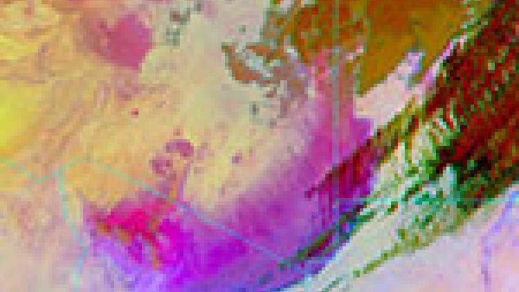 Dust outbreak Libya, Egypt and Sudan