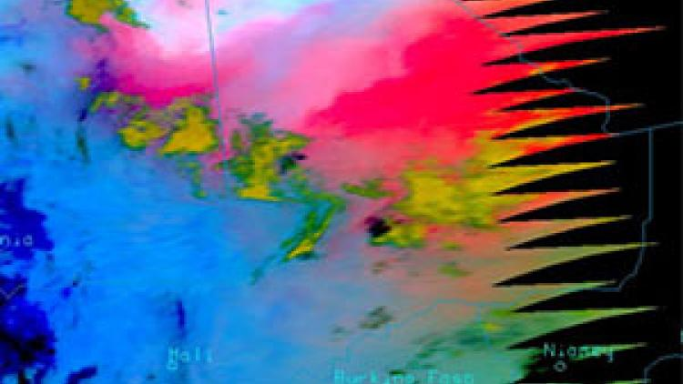 GOES-16 and MSG-4 eyes on dust transport over Atlantic