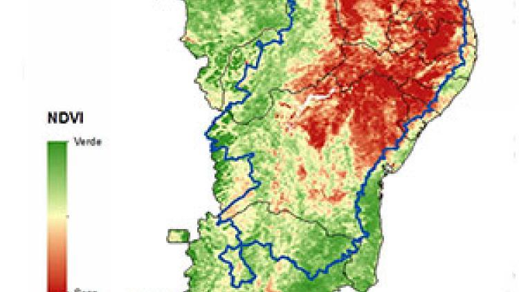 Monitoring of drought in Northeast region of Brazil using Meteosat-10 data