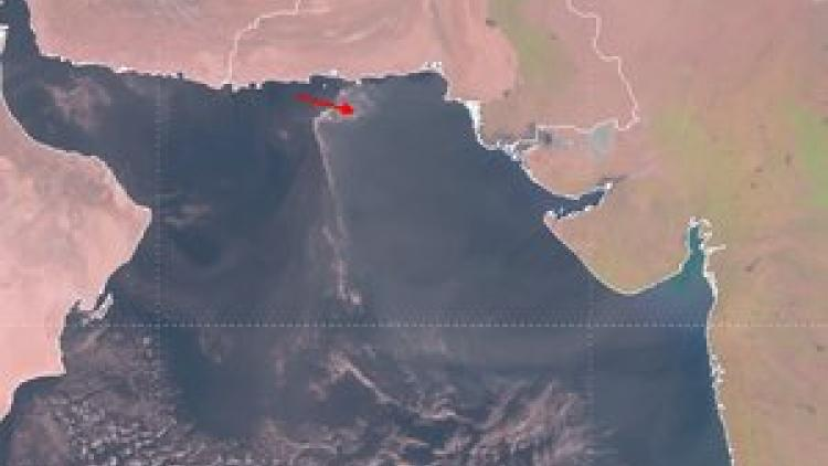 Outflow of Indian winter smog over North Indian Ocean