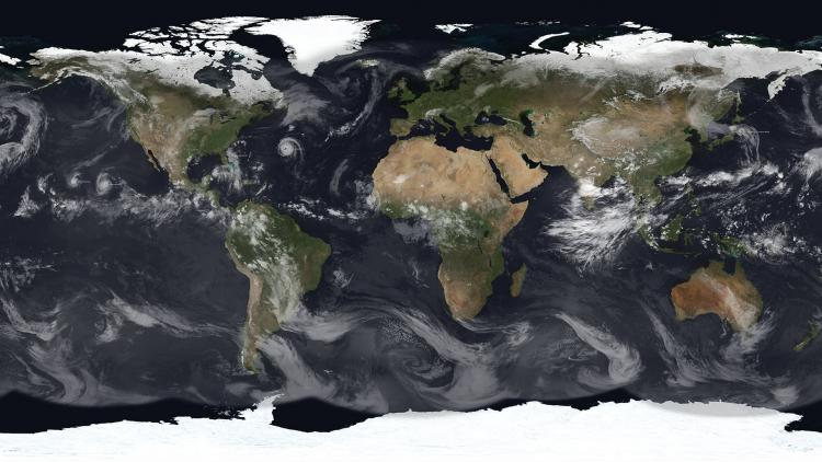 World of Weather map