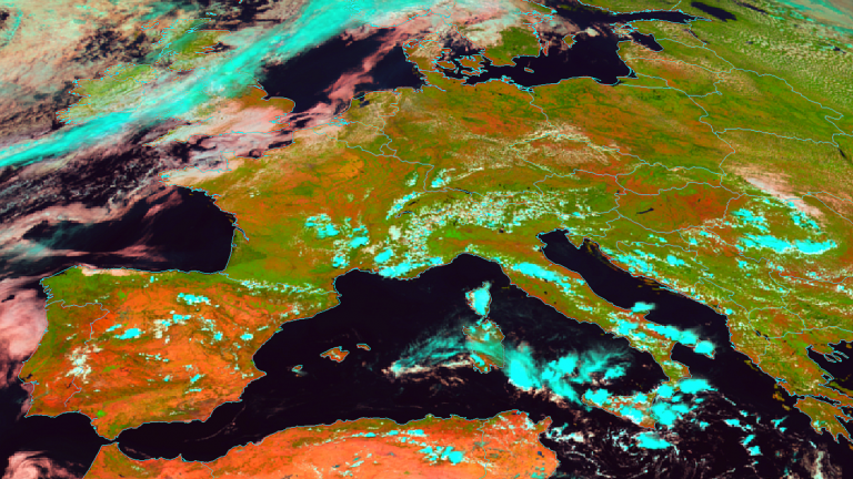 Natural Colour RGB over Europe