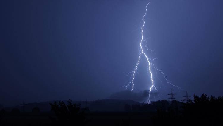 Lightning strike night