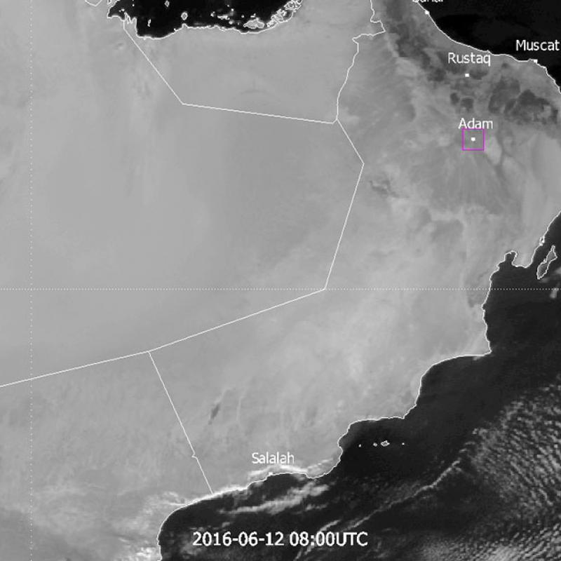 Contrasting temperatures in Oman