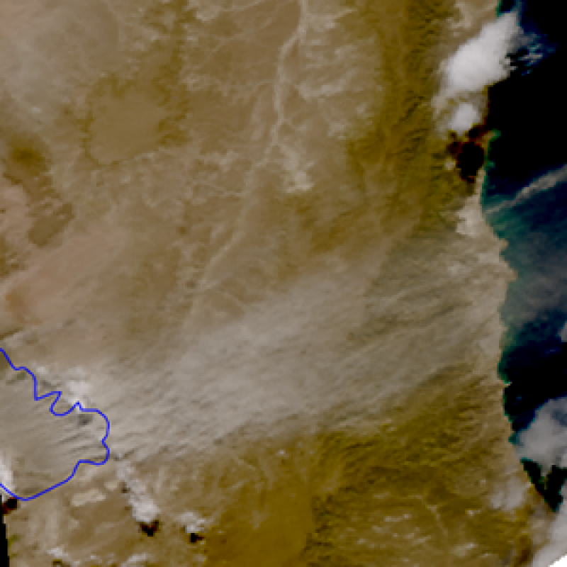 Dust lifted from a dry Patagonian lake reaches the South Atlantic