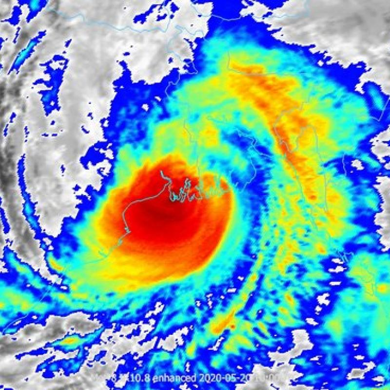 Super Tropical Cyclone Amphan in Bay of Bengal