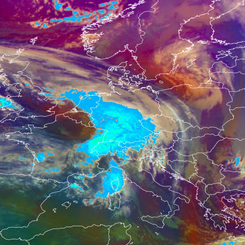 Meteosat-11 Airmass RGB